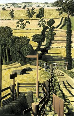 """The Road to High Ellington"" by Simon Palmer  (watercolour with ink and gouache)"