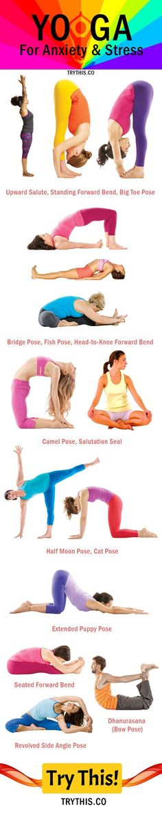 Yoga Poses For Anxiety And Stress , Follow PowerRecipes For More.