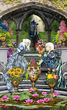 Six of Cups ~ Tarot Illuminati deck by *Elric2012