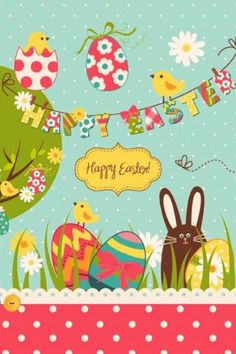 iPhone Wallpaper - Easter tjn Easter Peeps, Happy Easter, Easter Bunny, Easter Stuff, Easter Wallpaper, Holiday Wallpaper, Easter Pictures, Coloring Easter Eggs, Easter Printables
