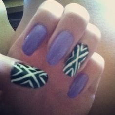 x and lavender nails