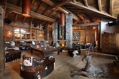 décoration d'intérieur chalet montagne pour salon