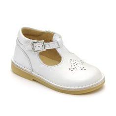 Mini Lottie, White Leather Girls Buckle Classics £45
