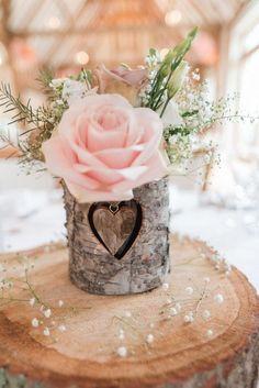 chic rustic wedding centerpiece with blush rose #blushweddings #weddingdecor #weddingcenterpieces #weddingreception