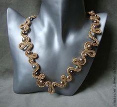Necklace Soutache Necklace, Diy Necklace, Soutache Tutorial, Embroidery Jewelry, Hippie Style, Shibori, Jewelry Art, Jewelery, Handmade Jewelry
