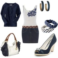 nautical blue & white, created by jklmnodavis.polyvore.com