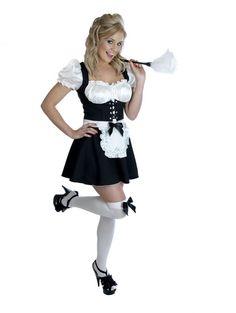 Ladies Cheeky Fraulein Sexy Maid Fancy Dress Costume Amazing Low Price's On Everything @ www.partyonfancydress.co.uk