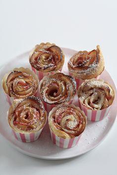 Apfel-Blätterteig-Rosen, apple roses