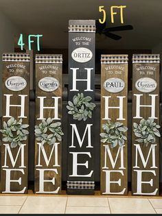 Porch Signs, Home Signs, Chalk Crafts, Porch Welcome Sign, How To Make Signs, Business Signs, Business Ideas, Crafts Beautiful, Wood Vinyl