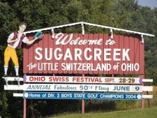 Sugar Creek Ohio...Otherwise known as The Little Switzerland of Ohio. (Beautiful and a fun day visit if you ever get a chance)