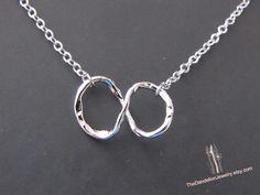 Infinity textured necklace in by Thedandelionjewelry, $18.00