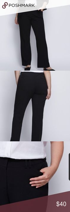 Lane Bryant Lena Trouser Pant - NWOT. 22 Short. The classic trouser featuring our T3 Tighter Tummy Technology: Targeted tummy control panel flattens and flatters the midsection with a no-gap waistband. Four pockets. Double bar and slide & zip fly closure with inner button.  This is a size 22- short. FIT: Lena (Moderately Curvy: For shapes smaller in the waist, curvy through the hip and thigh.) The inseam is 28 inches. LEG SHAPE: Trouser (Relaxed from hip through knee. Slight flare.) Lane…
