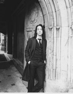 "a-spitting-slytherin: ""This is the one and only captured photograph of young Severus Snape at school. It took ten minutes of coaxing, but Lily finally managed to coerce him into a stiff-lipped but..."