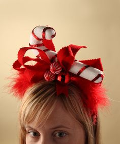 Look at this Candy Cane Headband Would be a funny addition to an ugly Christmas Sweater Diy Christmas Elves, Diy Christmas Crafts To Sell, Christmas Costumes, Christmas Candy, Christmas Ideas, Tacky Christmas, Christmas Fashion, Funny Christmas, Diy Crafts