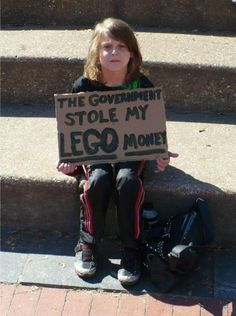 The government stole my lego money | Anonymous ART of Revolution