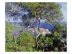 Bordighera, 1884 by Claude Monet - art print from King & McGaw Claude Monet, Monet Paintings, Impressionist Paintings, Art Institute Of Chicago, Art Reproductions, Canvas Wall Art, Framed Art, Giclee Print, Nature