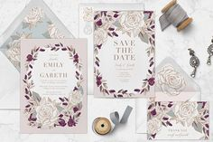 How To Send Beautiful Email Wedding Invitations (with RSVPs! Wedding Invitations Online, Save The Date Invitations, Wedding Invitation Wording, Digital Invitations, Floral Wedding Invitations, Save The Date Cards, Invitation Cards, Invitation Ideas, Invites