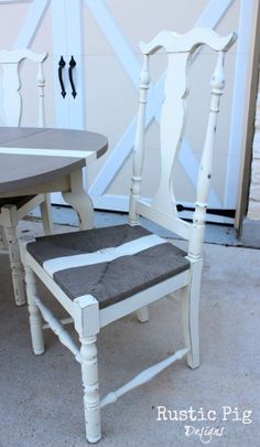 Hometalk :: Annie Sloan Painted French Table and Chairs