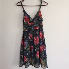 NWOT Planet Gold Floral Sundress Medium Beautiful floral sundress; I have only ever tried this on a couple times ~ have never worn it out.  Brand new. Falls above knees. Planet Gold Dresses