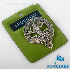 Urquhart Clan Crest Pewter Badge. Free worldwide shipping available