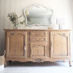 Antique Buffet, Wood Buffet, Antique Sideboard, Oak Sideboard, Repurposed Furniture, Shabby Chic Furniture, Refinished Furniture, Bleached Wood, Armoire