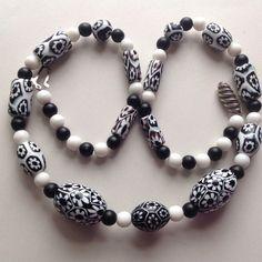 Vintage Moretti monochrome millefiori glass beads