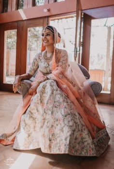 A Charming Bangalore Wedding With Kitsch Details And A Bride In Mint Indian Wedding Planning, Wedding Planning Websites, Wedding Looks, Wedding Bride, Gown Drawing, Reception Gown, Wedding Dresses For Girls, Lehenga Designs, Groom Wear