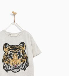 Image 2 of SEQUINNED TIGER T-SHIRT from Zara