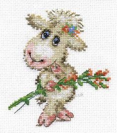Pretty Lamb Cross Stitch Kit