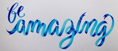 Ribbon Lettering example 3