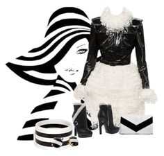 """Black and white world"" by aida-ida ❤ liked on Polyvore featuring R.J. Graziano, Kate Spade, Chanel, Alexander McQueen and Boohoo"