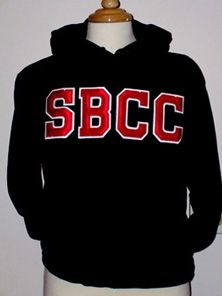 SBCC Applique Black W/Red Letters Santa Barbara City College, Character Outfits, Applique, California, Characters, Letters, Store, Sweatshirts, Red