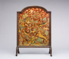 Max Kuehne American, born Germany, 1880-1968, Fire Screen (Deer and Leopard in Landscape)