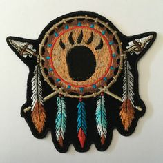 Embroidered Native Indian Feathers Spears Iron on Sew on Biker Patch Badge Cool Patches, Biker Patches, Pin And Patches, Sew On Patches, Iron On Patches, Harley Davidson Womens Clothing, Bull Riding, Riding Gear, Tad Gear