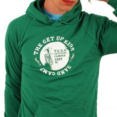 Printed on American Apparel Classic style 5495 California Fleece Pull-Over Hoodies. Price $30.00