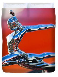1935 Pontiac Sedan Hood Ornament 2 Duvet Cover by Jill Reger