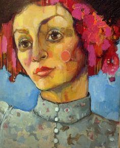 Mirabel in a hat (2016) Acrylic painting by Juliette Belmonte | Artfinder