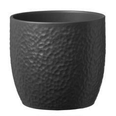 Boston – Μαύρο Boston, Living Environment, Clay Pots, Black And Brown, Planter Pots, Ceramics, Modern, Beige, Natural