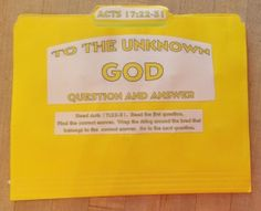 To The Unknown God Question And Answer FFG