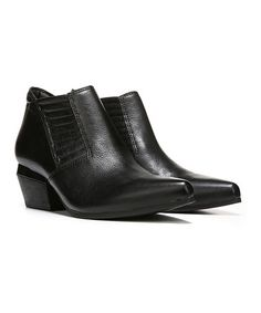 Black Tezla Leather Bootie #zulily #zulilyfinds