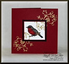Young Vermillion in Cherry Cobbler. by SandiMac - Cards and Paper Crafts at Splitcoaststampers