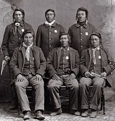Shoshone Indian Police at Fort Hall Reservation in Idaho - no date