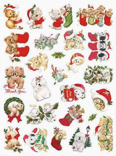 Current USA, INc. Ruth Morehead Christmas animal stickers
