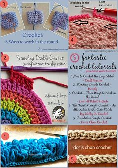 Five Handy Dandy Crochet Tutorials You May Just Want to Save for Later! Oombawka Design Crochet