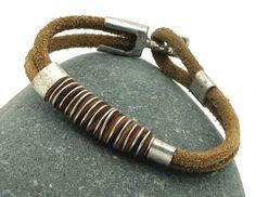 #Men's leather bracelet