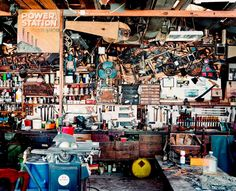 Jasper White - photographed mens sheds and garages. A personal space within the home