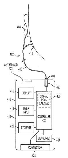 Apple patent wireless health sensors