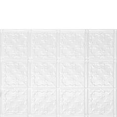 Decorative Ceiling Tiles, Inc. Store - Mini Fleur de Lis - Aluminum Backsplash Tile -