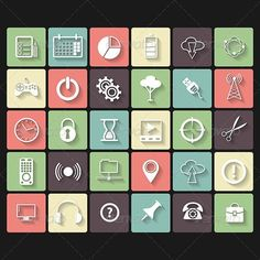 Universal Flat Icons for Web and Mobile by Editable EPS, Render in JPG format Vector Design, Graphic Design, Flat Icons, Social Media Graphics, Markers, Messages, Abstract, Vectors, Office Package