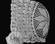 1915 Star Crown Baby Bonnet Crochet Pattern
